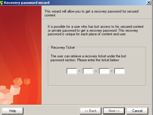 Password Recovery For Secured efile and Secured eusb... Password Recovery Wizard Helpdesk user - The system comes with a ready to go Helpdesk user that can perform the Password Recovery task.