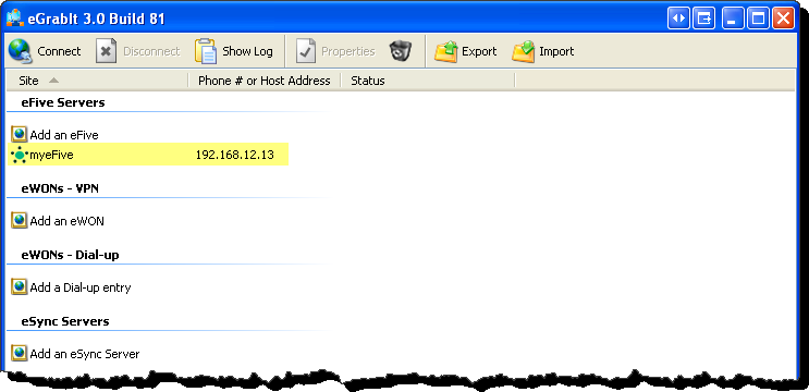 or TCP) and the Port used (1). In Diagnostic Level you can select the granularity of the events log (2).