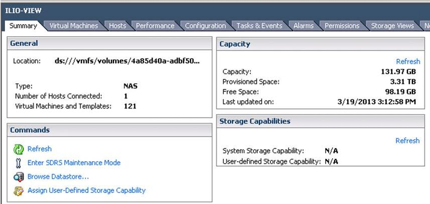 Figure 5 Storage Utilization for a Single VMware View Desktop Deployed on a Cisco UCS B200 M3 Using Atlantis ILIO Diskless VDI Solution Figure 6