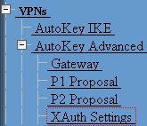 Reserve Private IP for XAuth User - 480 minutes Default Authentication Server = Local Query Client Settings on Default Server - Unchecked CHAP - Unchecked IP Pool Name = vpnclient DNS Primary