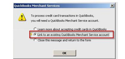 existing QuickBooks Merchant