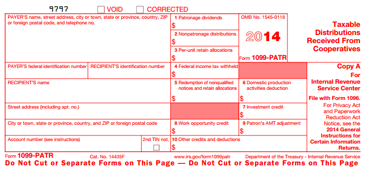 IRS FORM 1099-MISC A statement of miscellaneous income provided by a company during a calendar year to certain service providers, including independent contractors.