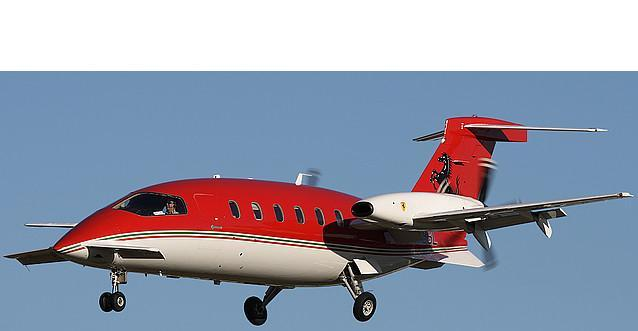 Piaggio P180 aircraft Unconventional 3 lifting surfaces, pushing turboprops Maximum cruise Mach number: 0.