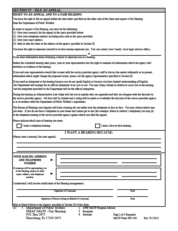 FORMS WRITTEN NOTICE FORM -