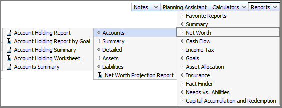 NaviPlan Premium Learning Guide: Investment accounts Analyze clients investment accounts using reports There are numerous NaviPlan reports that you can review to analyze your clients investment