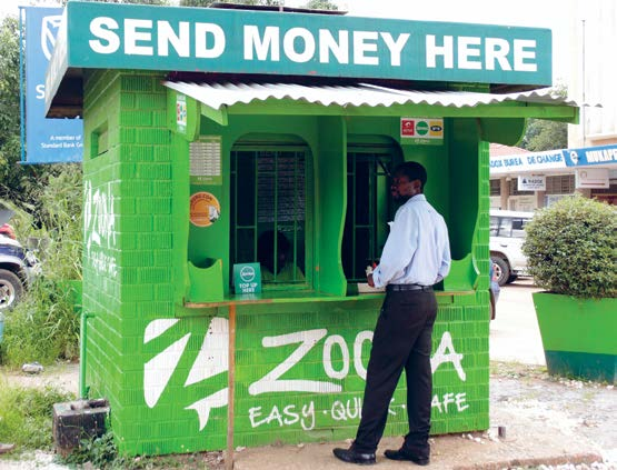 Zoona allows low-income people in emerging markets, including Zambia, and Malawi, to access a wide range of financial services, even when they don t have a bank account - a situation that more than