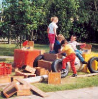 LEARNING THROUGH CONSTRUCTION PLAY Children respond to the great variety of opportunities blocks open to them.
