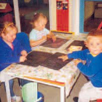 LEARNING THROUGH TABLE TOP PLAY Children will enjoy playing with a variety if jigsaws and table-top toys.