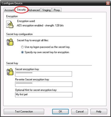 Step 7 If you connect through a Firewall/Proxy Server enter the details on the Proxy tab. Step 8 Click OK to create the new device.
