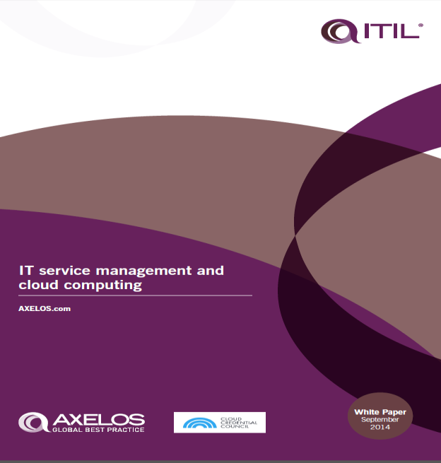 Helpful Resources Axelos White Paper on ITIL and Cloud Computing
