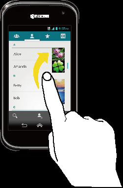 Pinch and Spread Pinch the screen using your thumb and forefinger to zoom out or