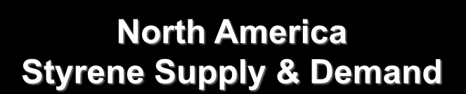 North America Styrene Supply & Demand Million Metric Tons Operating Rate 10.0 100% 8.0 6.0 4.0 2.0 0.