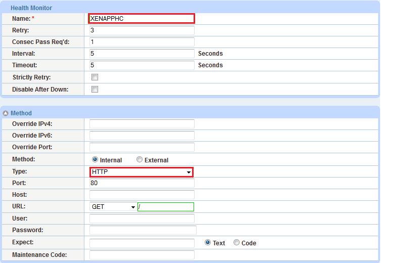 Figure 2: Health monitor configuration 6. Click OK, then click Save to save the configuration. 6.2 SOURCE NAT CONFIGURATION This section configures the IP address pool to be used for IP Source Network Address Translation (SNAT).