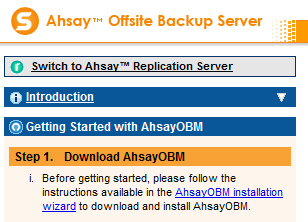 Deployment & Management ExchangeDefender's Offsite Backup is powered by AhSay Offsite Backup Manager (OBM) and you can always download the latest version from our backup servers.