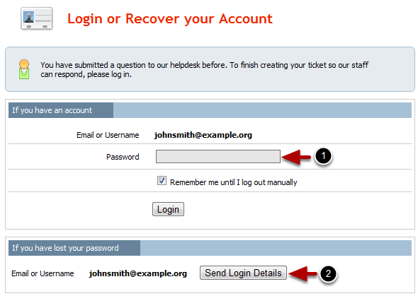 *NB* If you already have a username and password for our ticketing system, click the Already have an account?