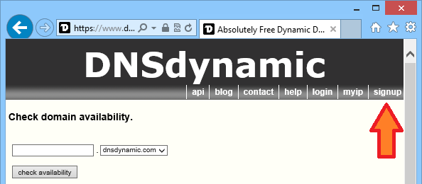 DNS: Option 2. Obtaining a DNS name from DNSDynamic Click the create an account link in AkrutoSync window, next to the Use my DNSDynamic account option (see the screenshot).
