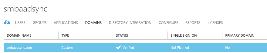 9. This may take a little while but once it is verified you will see the status change to verified.