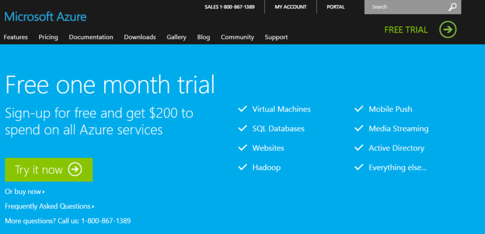 Step 2: Sign-up for a Microsoft Azure 30-Day Trial The first thing we are going to do after setting up the Base Configuration for Cloud Technologies is to sign-up for a Microsoft Azure 30 Free Trial.