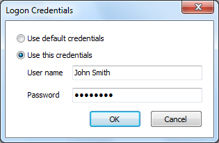 12 3.6 Logon Credentials Use this dialog to specify logon credentials to access computer on the network. Default credentials are specified in the Options dialog. 3.7 Registration When you receive your registration information (license key) you must enter it into the program.