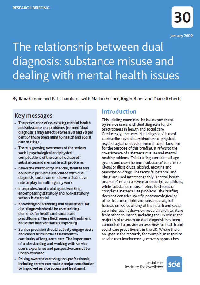 62 Resources The relationship between dual diagnosis: substance misuse ...