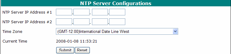 Settings>SNMP You can set three SNMP Trap IP address and trap type, this setting will be saved in the flash.