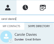 Add contacts When you search for a contact, you can search using the internal University directory (My Contacts) or the external Skype directory. Add a contact from the University directory 1.