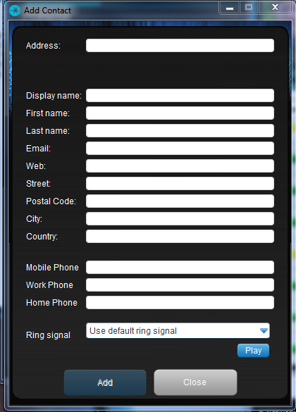 6 Add or Edit Contact 6.1 Add Contact When you sign in for the first time, there are no contacts on your contact list.