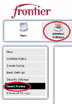 Wireless Network Configuration, Continued Guess Access 7550 now supports a 2 nd SSID via a new feature called Guest Access in the Wireless Settings page.