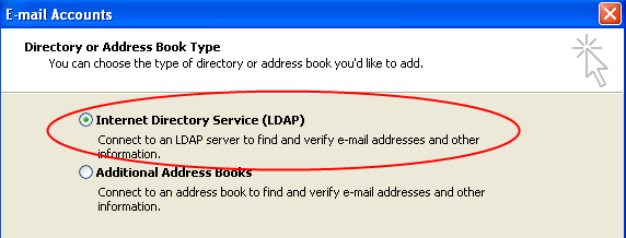 Clumbia University Directry (LDAP) T add the Clumbia University Directry (Clumbia LDAP) t yur Outlk address bks, please fllw these steps: Within Outlk g t Tls, then select Email Accunts frm the