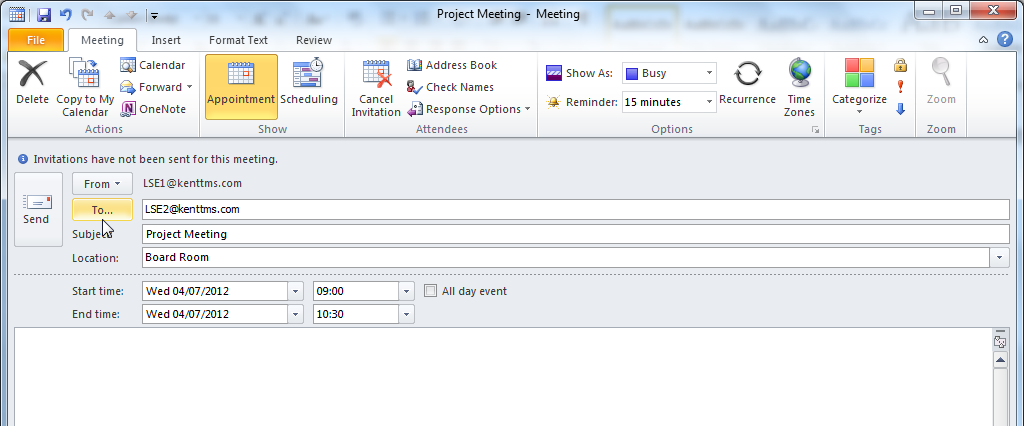 4. Meetings (for you and others) In Outlook, Meetings are appointments that involve other people.