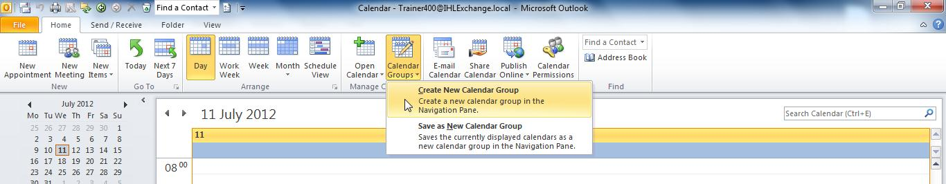 Creating and Using Calendar Groups Managing a large number of colleague s calendars can cause difficulties.