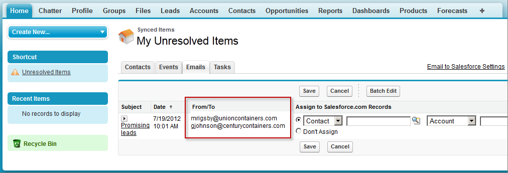 Recurring events do not appear on the My Unresolved Items page.