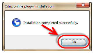 5.3.3 Click Open 5.3.4 When the download has completed, double click CitrixOnlinePluginWeb.exe 5.3.5 Click Yes at the User Account Control popup window 5.