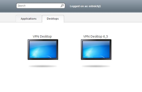 published applications may differ from the screenshot displayed opposite 9.2 Select the Desktops tab 9.