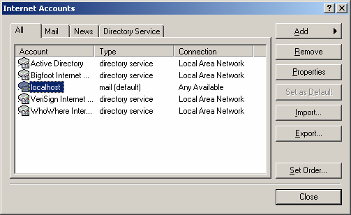 Once logged in, you should select Remote, and then Internet Mail Server from the top menu and you will then be presented with the following dialog.