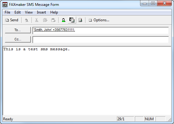 Screenshot 64 - Sending SMS from email client 6.