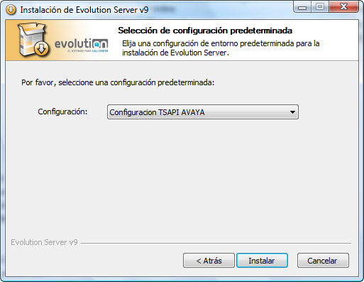 6.2. Configure Evolution It is assumed that Evolution Software is installed in
