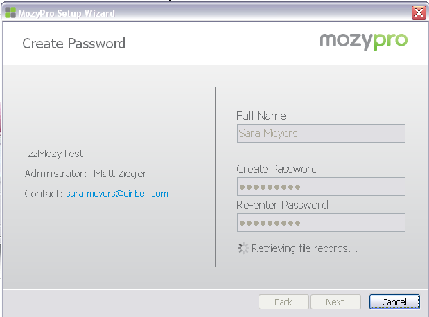 Online Backup by Mozy User Guide 6 6. The Install Window will show progress, then you will be prompted to enter your license key/email address.