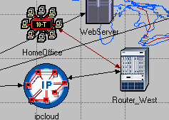 Figure 12: Home office configurations Now the home office is connected to Router_West using the 10BaseT