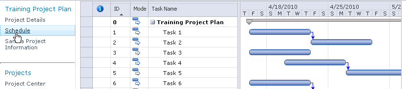 Managing projects in Project Web App Modifying project plans in PWA Project Server 2010 enables the creation and modification of complex schedules online and assigning multiple resources to each task.