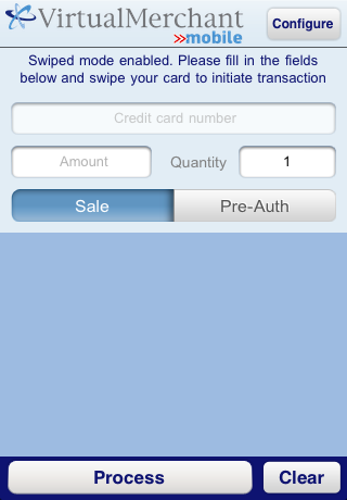Processing Transactions using VirtualMerchant Mobile Processing Swiped Transactions Processing Swiped Transactions Apple - iphone/ipod Touch/iPad Once the idynamo is plugged into the port at the