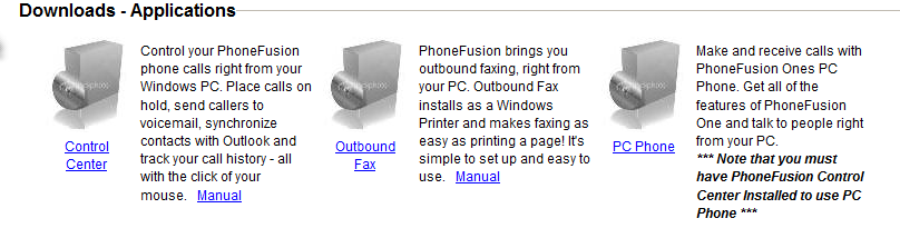 Support This section brings some helpful information about PhoneFusion One, including contacting Customer Service, manuals and downloads to help use our service.