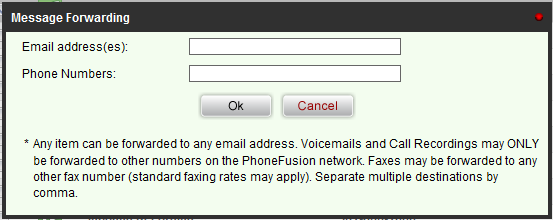 Forward - This button allows you to forward a message to either an email address or another user on this system.