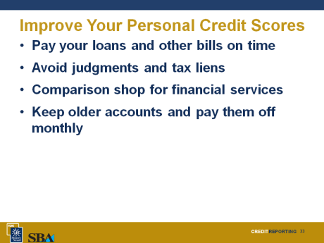 10 Minutes Personal Credit Impact on Business To make a decision on your business loan application, lenders will likely ask for your permission to review your personal credit reports and contact your