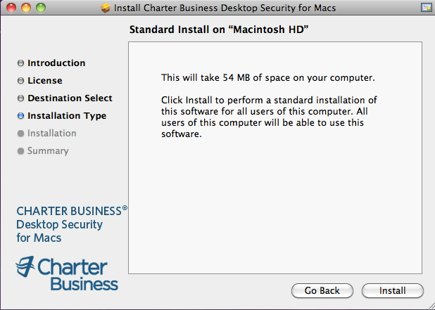 11. Click Install to perform a standard installation of the