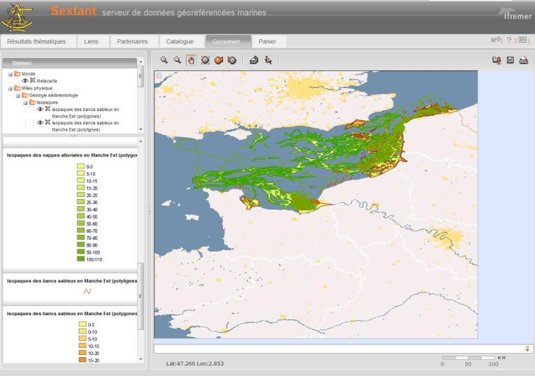 The Geoviewer The Web GIS interface allows end-users to create maps including several layers from internal and external sources The portal access to local or remote OGC services : Displaying