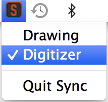 DIGITIZER MODE Digitizer mode allows you to use your Sync Stylus to control your cursor as a mouse or input device on your computer. 1. Open the Sync VDC software 2.