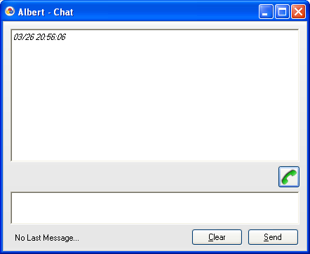 Chat You can start a text chat session with other CA Client users. This feature is useful for tasks such as confirming whether a colleague is available for a phone conversation.