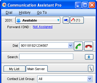 Dial Modification When you make an external call from the contact list or a CRM application, or copy an external phone number to CA Client from another application, the number is modified according