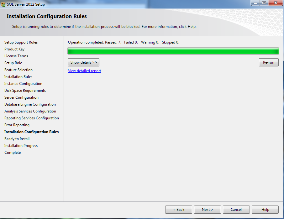 16. Error Reporting, Installation Configuration Rules, & Ready to Install 17.